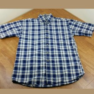 Gulf Traders Small Plaid Button Up